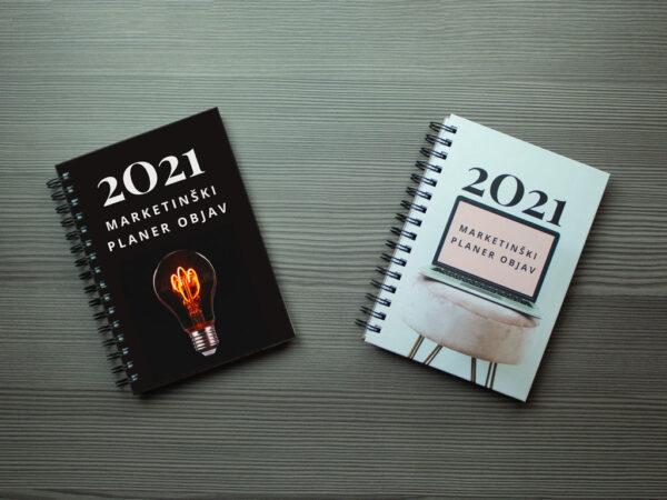 marketinski planer 2021 crna pink