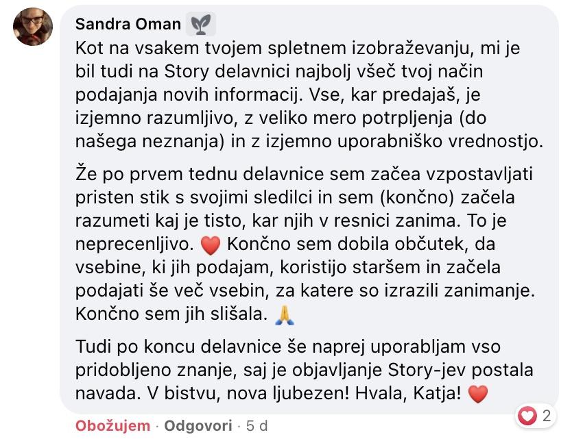 story sandra